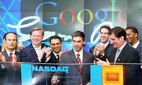 Google ceremony at Nasdaq 001