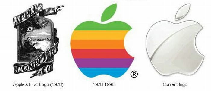 history of apple computers logos