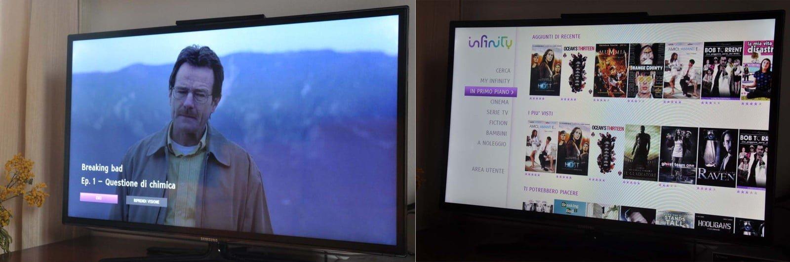 Infinity App per Samsung Smart TV