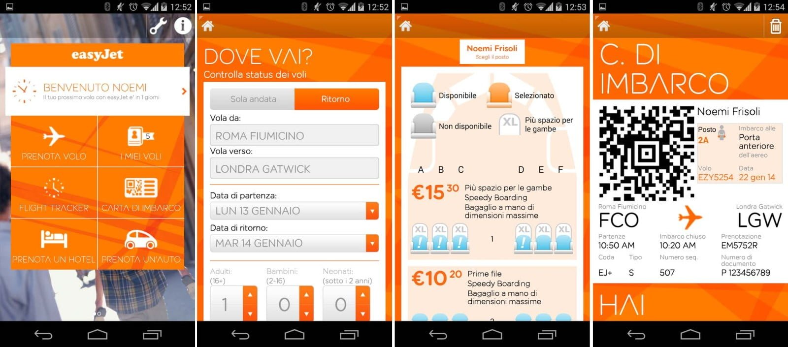 App EasyJet per Android. Credit: easyJet Airline Company Limited