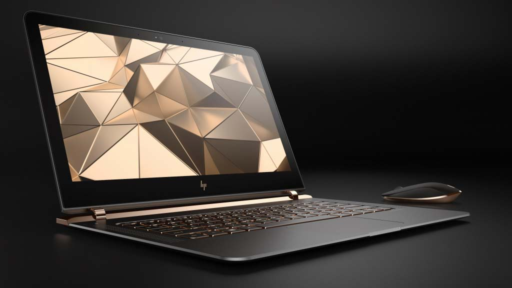 HP Spectre 13.3 right facing paired with wireless mouse jpeg