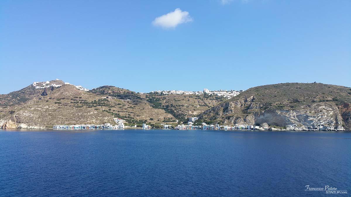 Milos, in particolare il piccolo villaggio di pescatori di Klima
