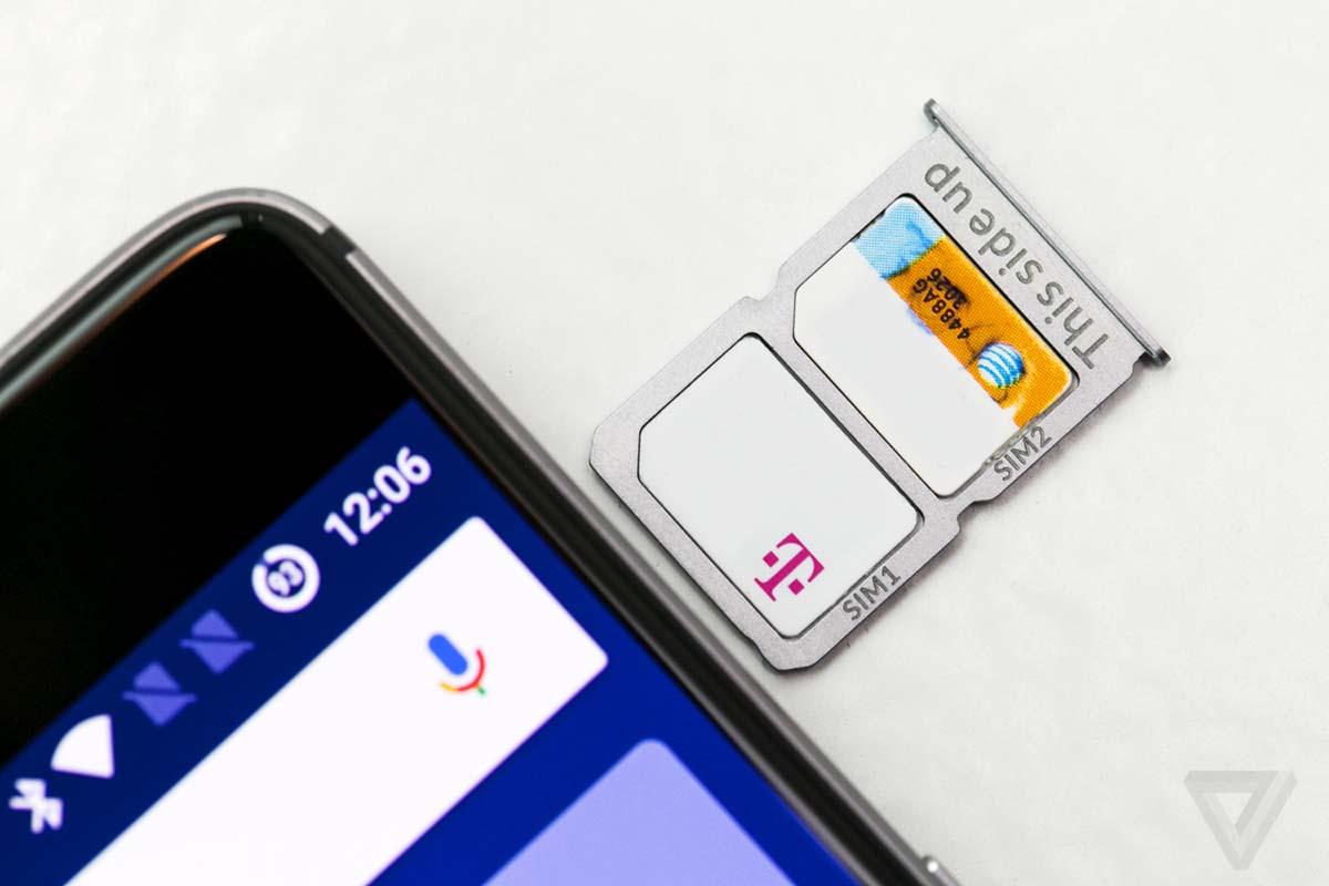 OnePlus 3, dual Nano-SIM   Credit: TheVerge.com