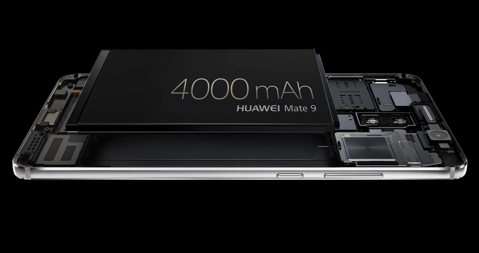 La batteria del Mate 9 ha un'ottima capacità e una carica ultra rapida
