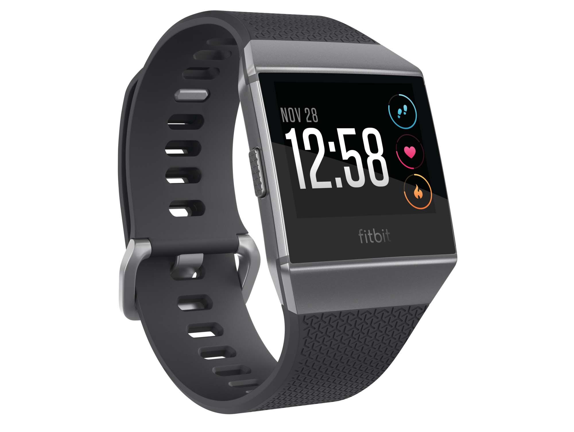 Fitbit Ionic 3QTR Charcoal ClockDefault