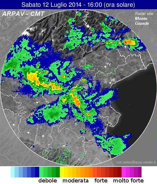 Radar Veneto oggi