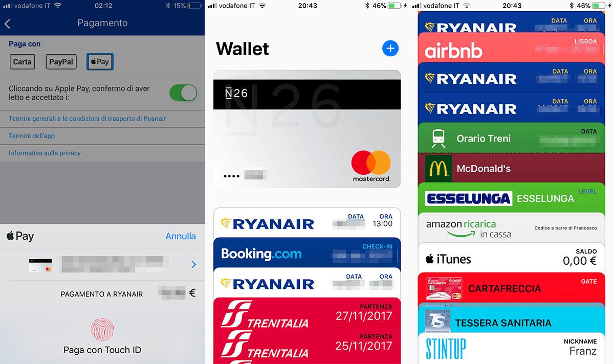 Apple Wallet in Italia