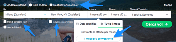 skyscanner search stintup