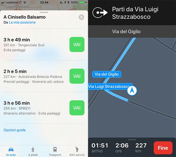 Apple Mappe miglior navigatore