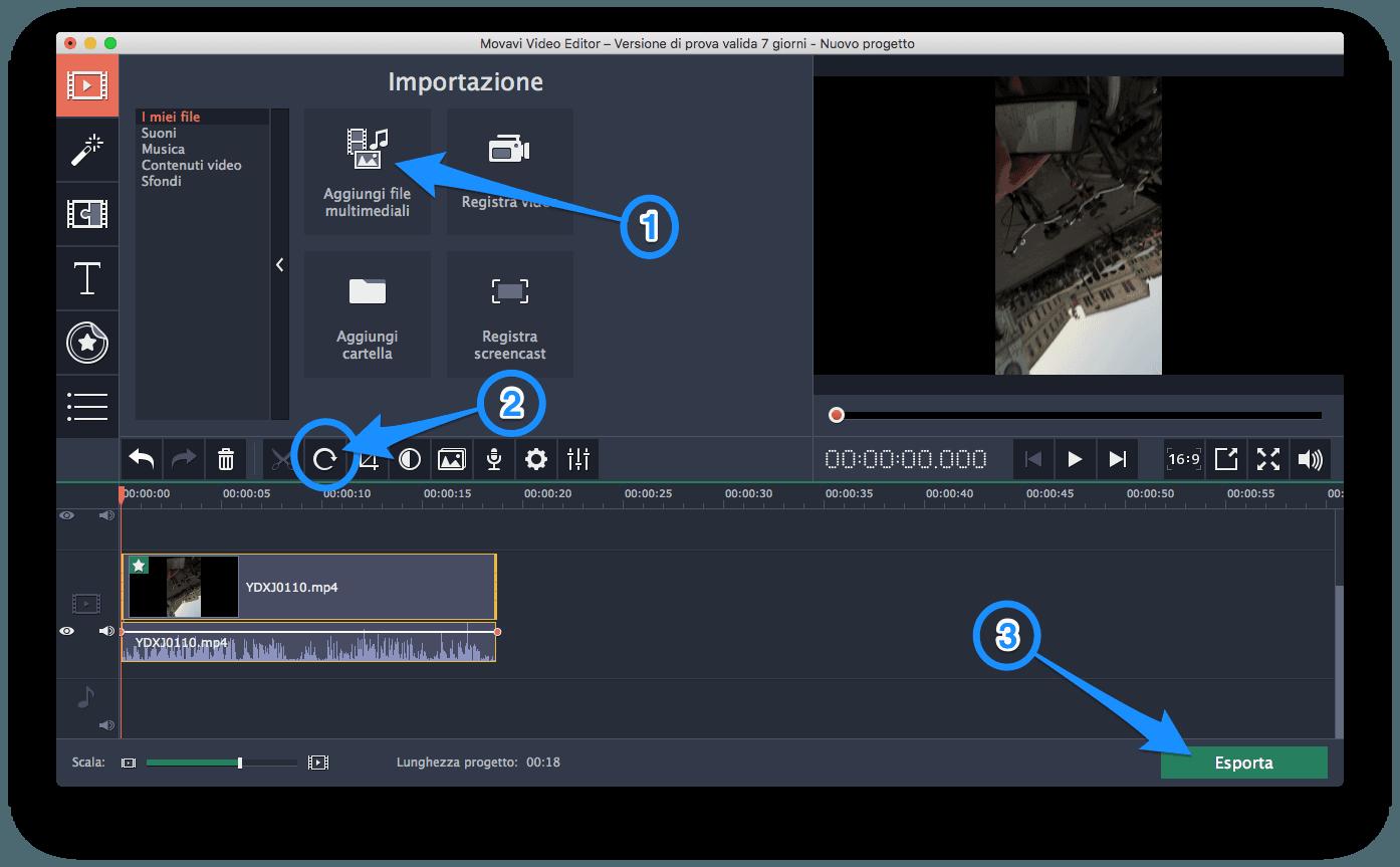 come ruotare un video