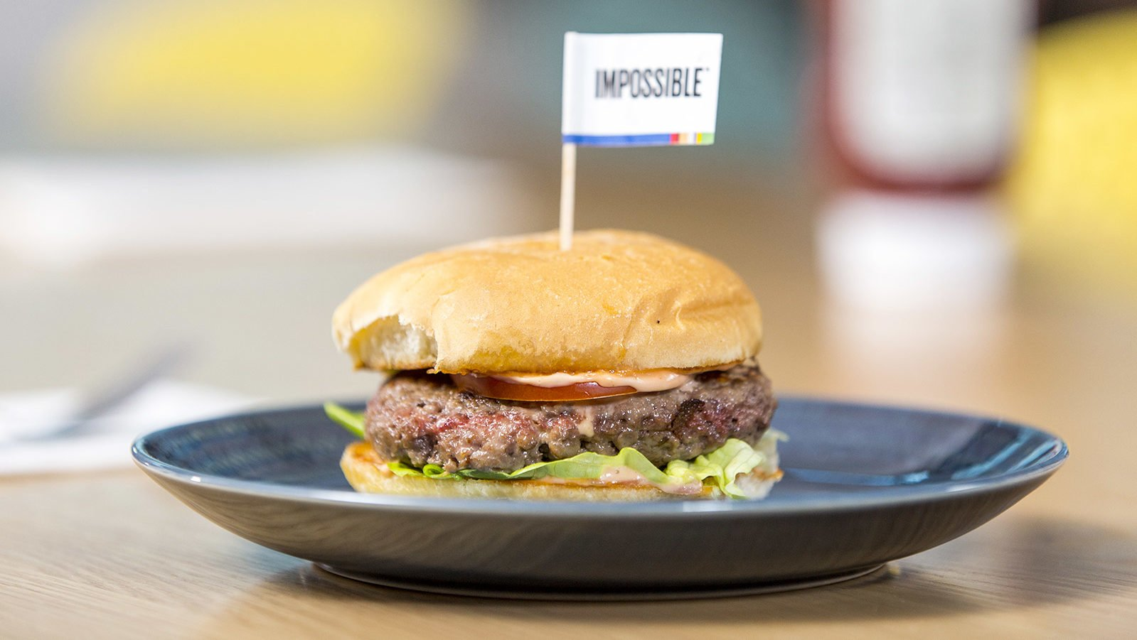 cropped impossible burger