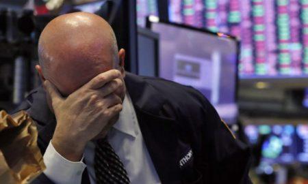 dow jones stock market crash trader cringe ap