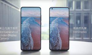 Xiaomi smartphone con fotocamera sotto al display