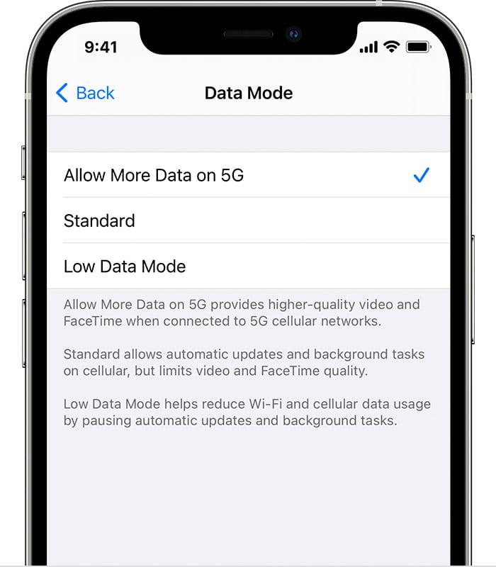 aggiornare iPhone con rete mobile