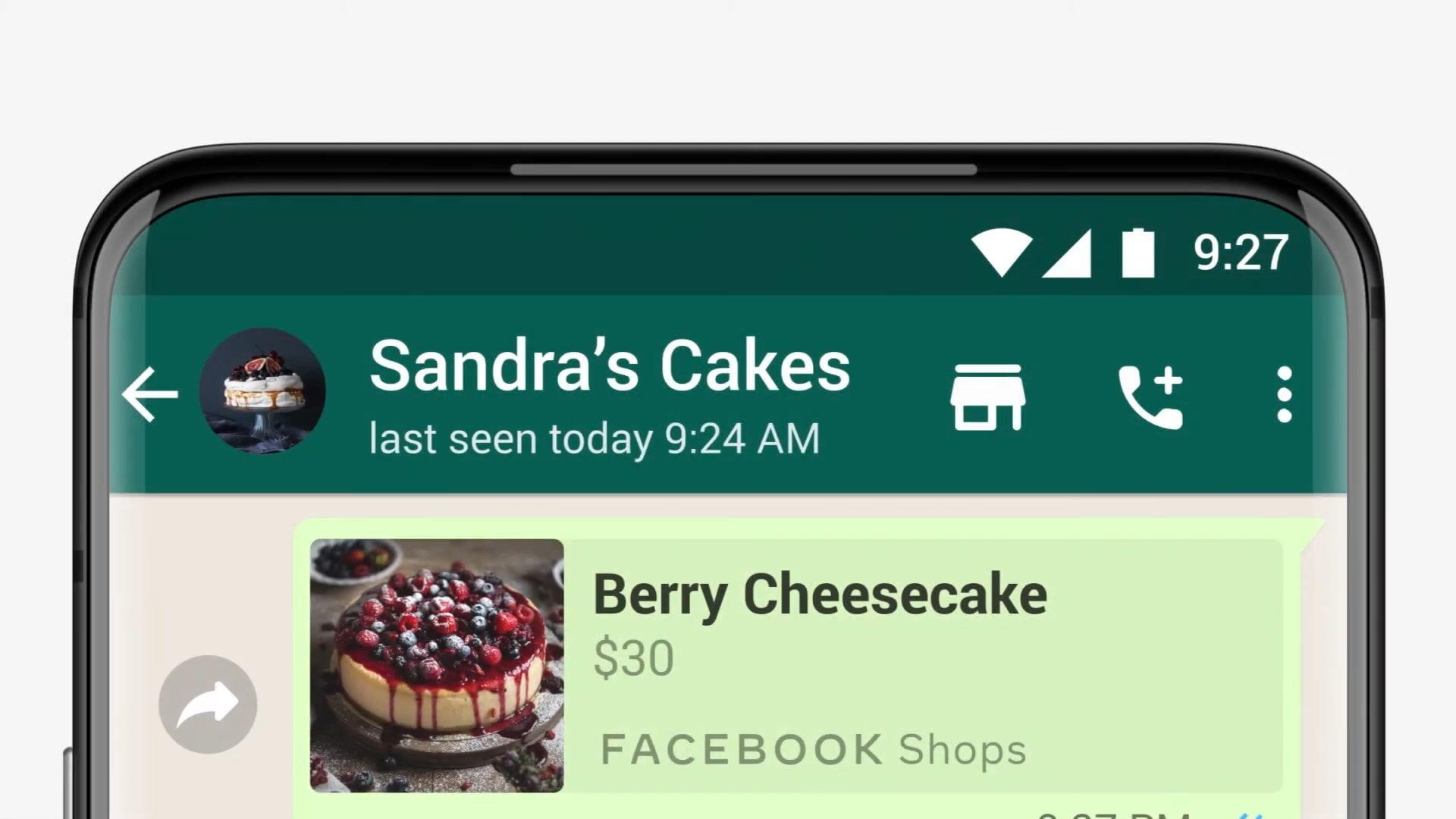 Shopping su WhatsApp