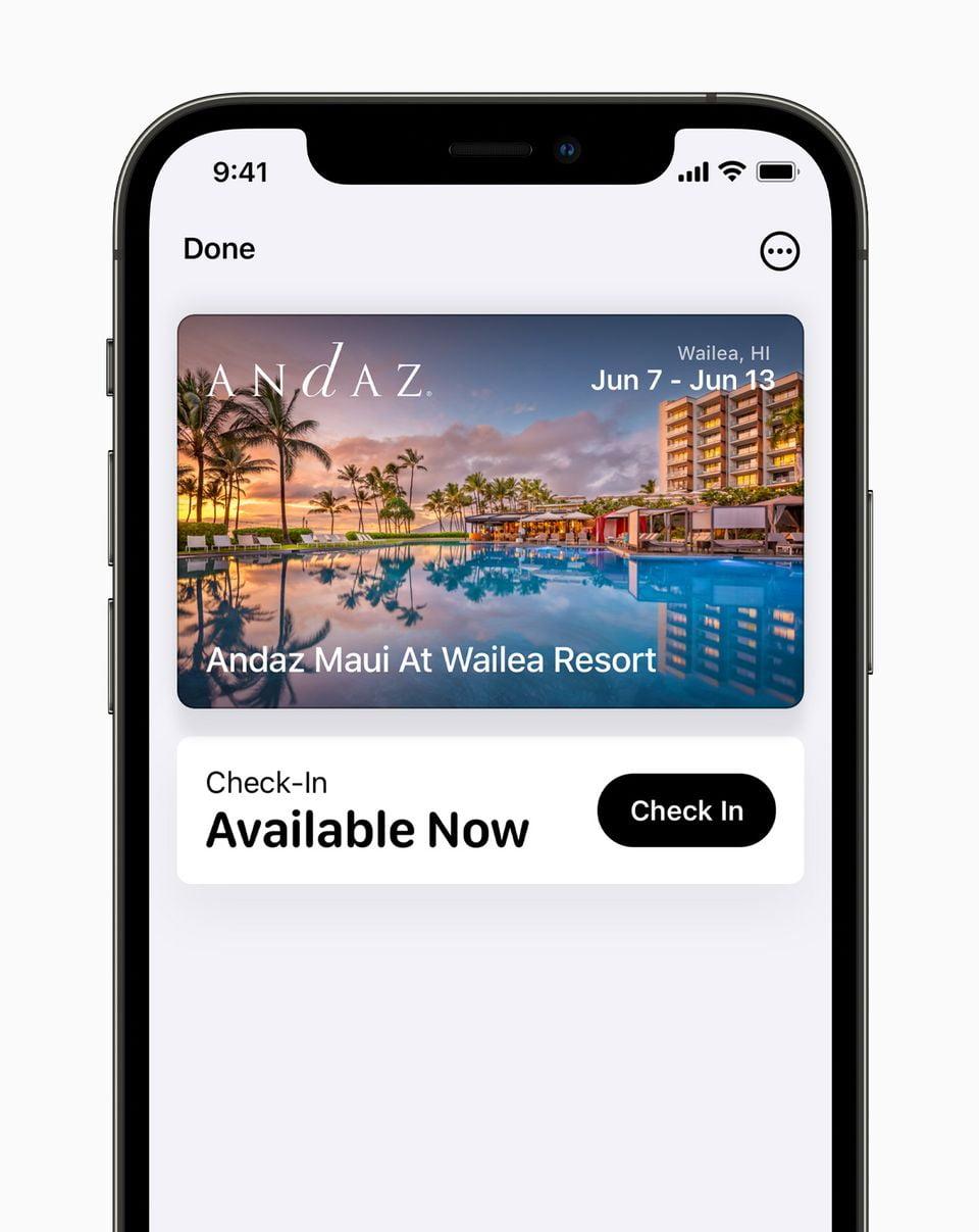 Apple iPhone12Pro iOS15 wallet hotelkeys 060721 result