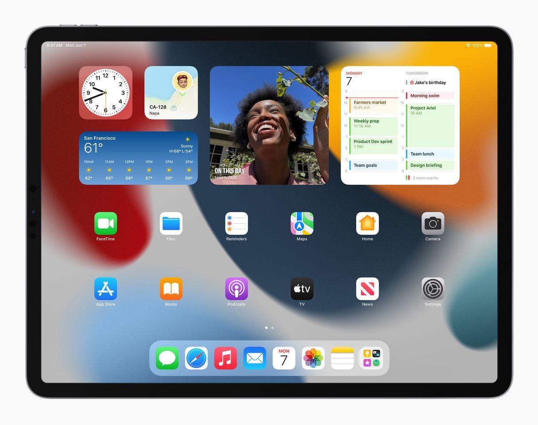 Apple iPadPro iPadOS15 springboard widgets 060721 result 1